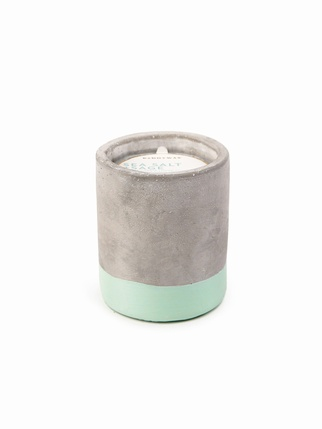 Urban Concrete 3.5 oz candle - Sea Salt & Sage Living > Candles + Candle holders