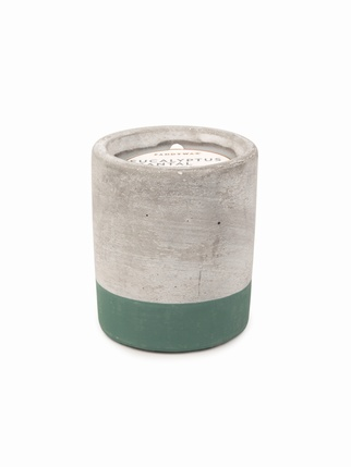 Urban Concrete 3.5 oz candle - Eucalyptus + Santal Living > Candles + Candle holders