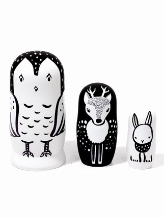 SALE - Woodland creatures nesting dolls Kids > Toys