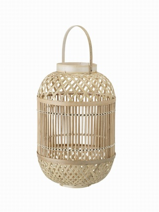 Bamboo lantern Living > Candles + Candle holders