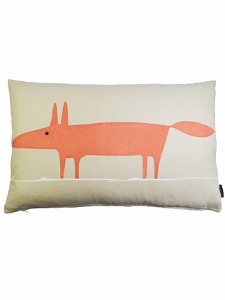 SCION Mr Fox cushion cover - Beige Living > Cushion covers