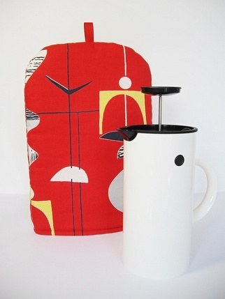 Sanderson Mobiles Coffee Cafetiere Cosy - RED Kitchen > Cafetiere Cosy