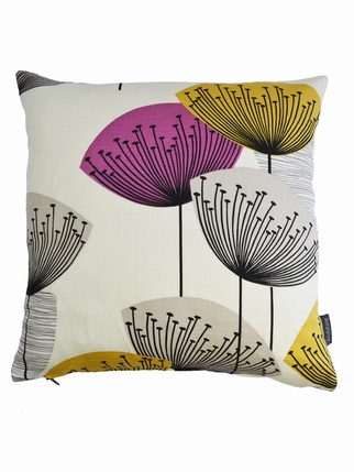 Sanderson Dandelion Clocks cushion cover - Gold Living > Cushion covers