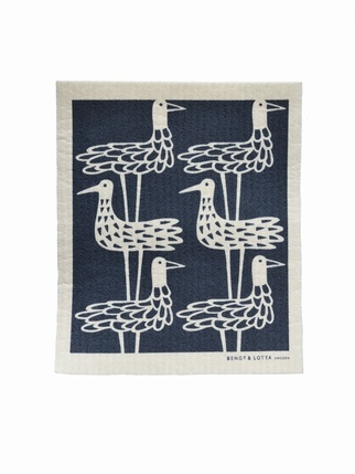 Klippan Shore Birds dishcloth - Blue Kitchen > Dishcloths