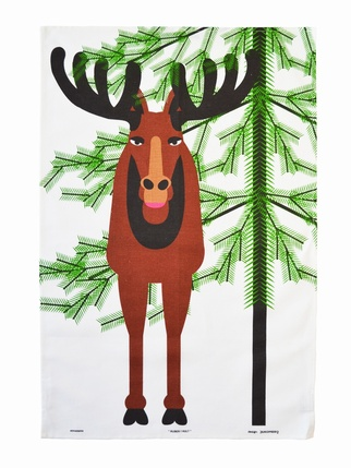 Almedahls Christmas Moose Tea Towel Kitchen > Tea Towels