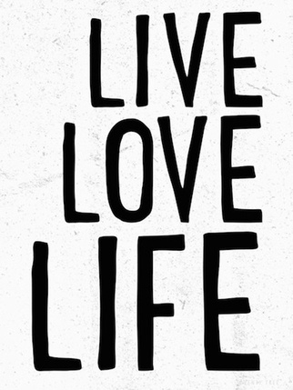 SALE - Live Love Life Print - Seventytree Kids > On the wall