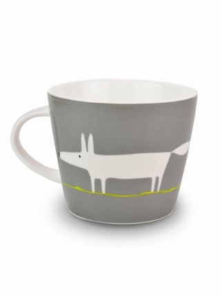 Scion Living Mr Fox mug - Charcoal & Lime Kitchen > Cups & Jugs