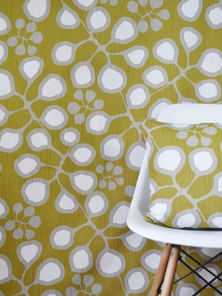 Scandinavian fabric P/M - Sedum Mustard Living > Fabric