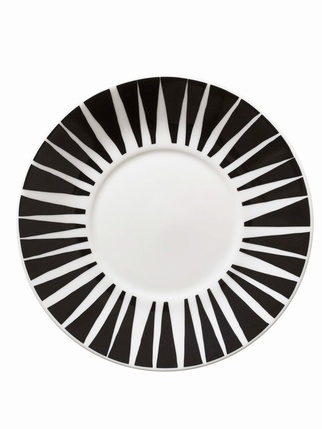 House of Rym Saucer Stripes never wear out/Black Kitchen > Cups/Mugs