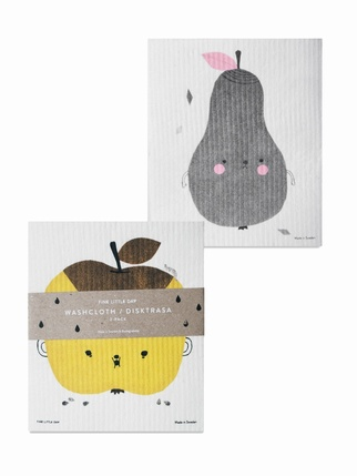 Fine Little day Dish cloths x2 set - Apple & Pear Kitchen > Dishcloths