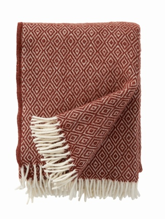 Klippan Pure Wool Stella Blanket - Rust Living > Blankets/Throws