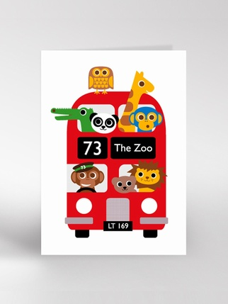 Dickybird Zoo bus Card Living > Cards and Wrapping