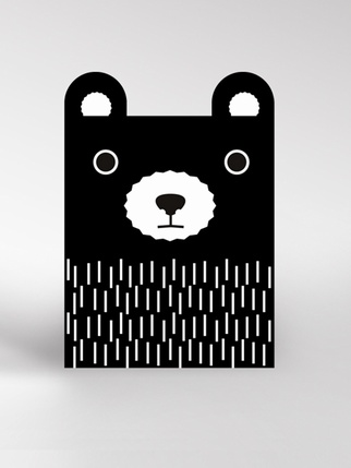Dickybird monochrome Bear card Living > Cards and Wrapping