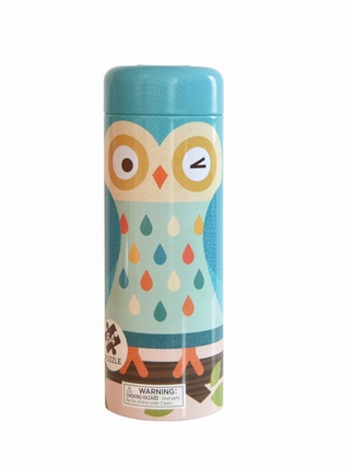 Owl Family 64-Piece Tin Canister Puzzle & Money Tin Kids > Toys