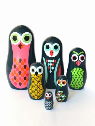 Pocket Owl nesting dolls Kids > Toys