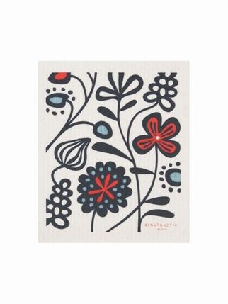 Flower Meadow Swedish dishcloth Kitchen > Dishcloths