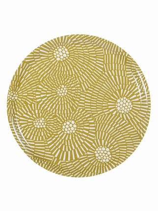 Virvelvind Round Tray - Mustard Kitchen > Trays