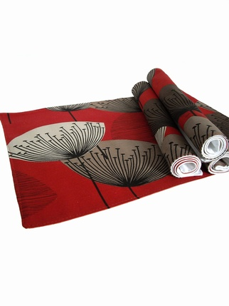 Sanderson Dandelion Clocks Placemats - Red Kitchen > Placemats & Napkins