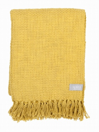 Olivia Cotton blanket Yellow Living > Blankets/Throws
