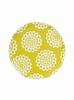 Round Birch tray - Lycka Yellow
