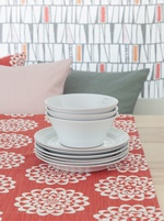Lycka Table runner - Rouge/Coral