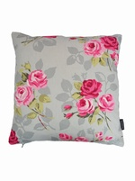 Nancy Rose Cushion Cover - Grey