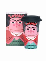Frida porcelain travel mug