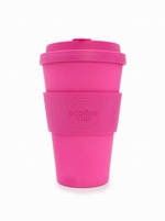 Pink 14OZ REUSABLE BAMBOO COFFEE CUP