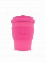 PINK 12OZ REUSABLE BAMBOO COFFEE CUP