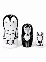 SALE - Woodland creatures nesting dolls