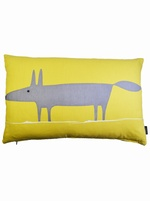 Mr fox cushion cover - Yellow