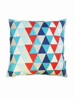 Harlequin Geometric cushion cover  - Kaleidoscope Blue