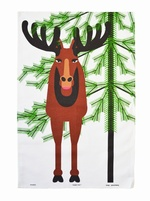 Almedahls Christmas Moose Tea Towel