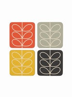 Orla Kiely Multi stem coaster set