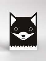 Dickybird monochrome Fox card