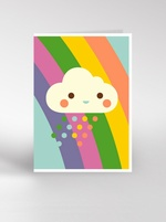 Dickybird Rainbow Cloud Card