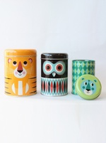 Omm Deisgn Set of 3 Animal storage tins