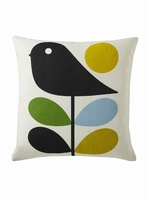Orla Kiely Early Bird cushion Duckegg