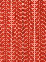 Orla Kiely Linear Stem fabric  - Tomato