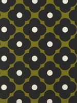 Olra Kiely Spot Flower fabric - Seagrass