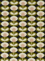 Orla Kiely Oval Flower fabric - Seagrass