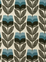 Orla Kiely Rosebud fabric - Powder Blue