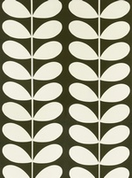 Orla Kiely Giant Stem fabric - Khaki