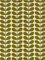 Orla Kiely Two Stem fabric  - Olive
