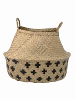 Large seagrass cross basket