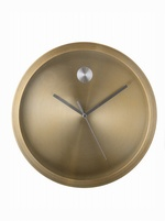 Gold Aluminum Wall Clock