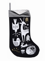 Wee Gallery - Winter Animals Stocking – Black